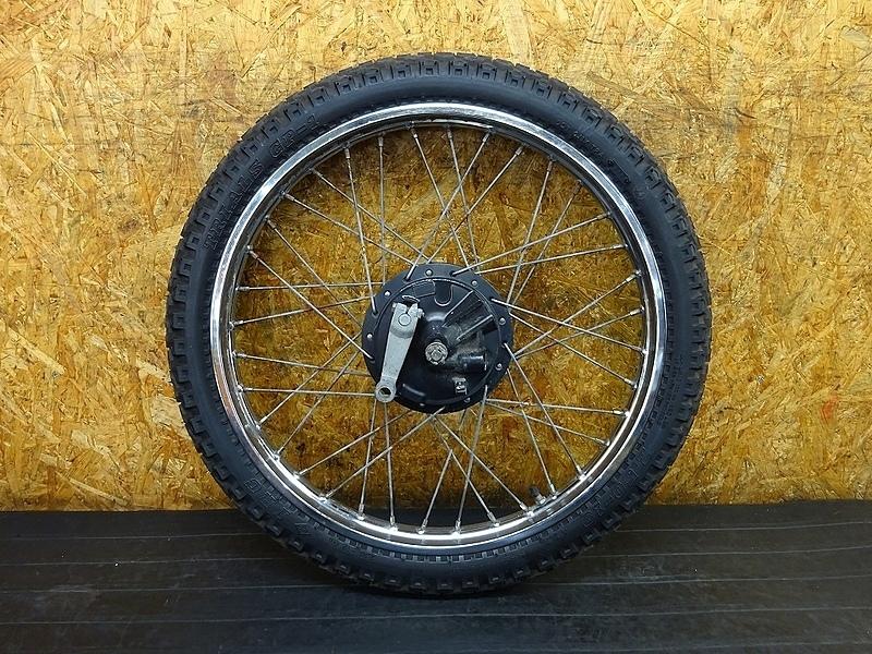 【180723.Y】DT50(17W-409)● フロントホイール(19×1.40) タイヤ(19×2.50) ブレーキドラム アクスルシャフト | 中古バイクパーツ通販・買取 ジャンクヤード鳥取 JunkYard