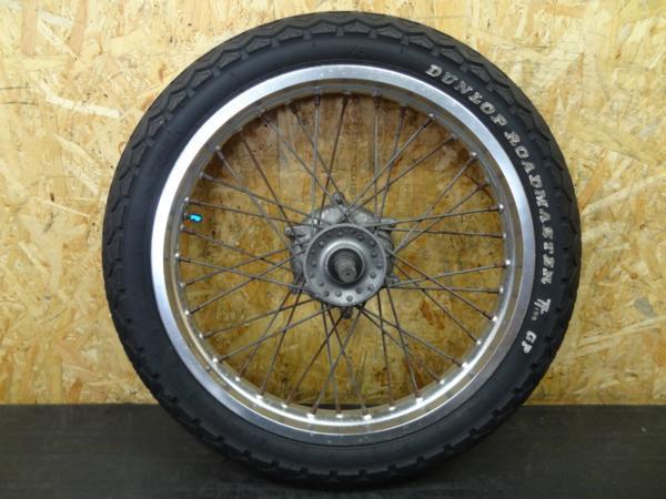 【140804】GB250クラブマン(MC10)◎フロントホイール タイヤ付   中古バイクパーツ通販・買取 ジャンクヤード鳥取 JunkYard