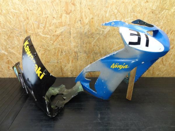 【140910】Ninja ZX-6R'03◎レースカウル アッパー 難有【ZX600K | 中古バイクパーツ通販・買取 ジャンクヤード鳥取 JunkYard