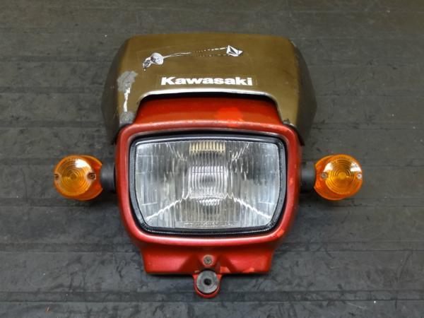 【150312】スーパーシェルパ(KL250G)◎ヘッドライト カウル 難有 | 中古バイクパーツ通販・買取 ジャンクヤード鳥取 JunkYard