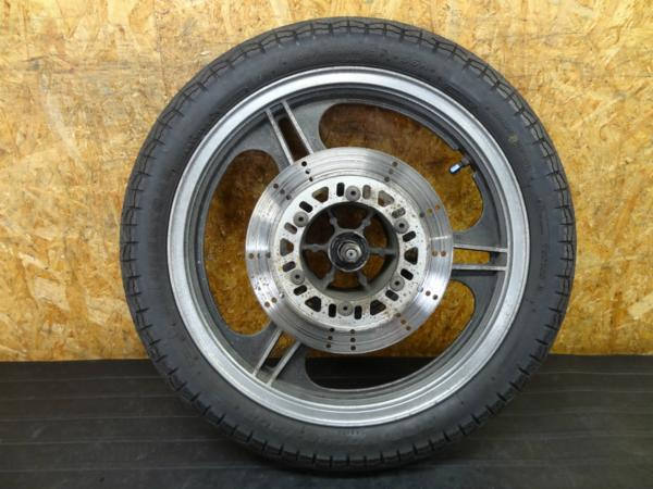 【160903】GPZ400F(ZX400A)◇フロントホイール 17×2.15アクスル   中古バイクパーツ通販・買取 ジャンクヤード鳥取 JunkYard