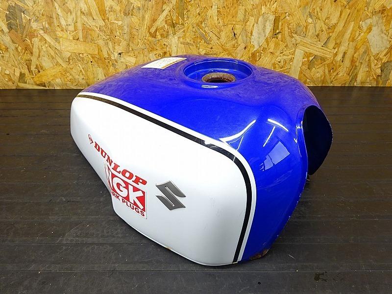 【200302】GSX400インパルス(GK7CA-100)■ 燃料タンク ガソリンタンク フューエルタンク 青 白 クーリー ジャンク | 中古バイクパーツ通販・買取 ジャンクヤード鳥取 JunkYard