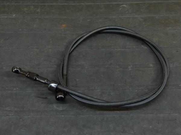 【160406】メッシュブレーキホース ブラック◇1320mm 【ハーレー | 中古バイクパーツ通販・買取 ジャンクヤード鳥取 JunkYard