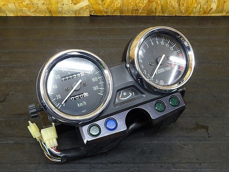 【200416】ZRX-Ⅱ(ZR400E-340)■ スピードメーター タコメーター インジケーターランプ 11139㎞ 【ZRX400 | 中古バイクパーツ通販・買取 ジャンクヤード鳥取 JunkYard