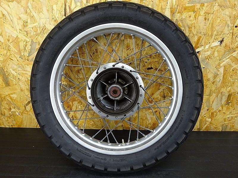 【190805.Y】SR400(1JR-346)☆ リアホイール スプロケット 18×2.15 DUNLOP ROADMASTER TT100 GP 130/80-18 製造16年19週 【SR500 1JN 2H6 | 中古バイクパーツ通販・買取 ジャンクヤード鳥取 JunkYard
