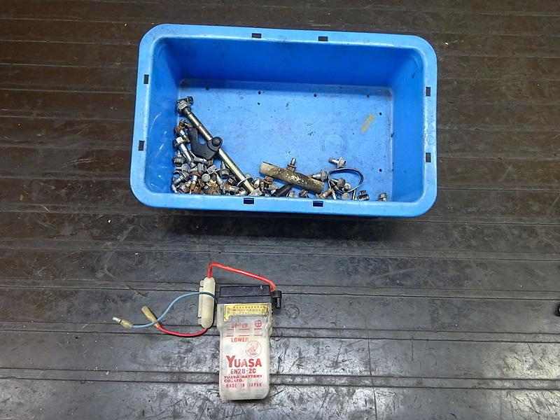 【180713.H】モトコンポ(AB12-1004)● ボルトセット バッテリー ジャンク   中古バイクパーツ通販・買取 ジャンクヤード鳥取 JunkYard