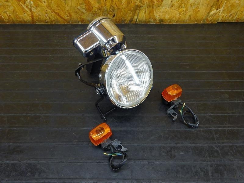 【210623】FTR223(MC34-1603)◇ ヘッドライト ヘッドライトケース ヘッドライトレンズ ステー スピードメーター ウインカー メッキ   中古バイクパーツ通販・買取 ジャンクヤード鳥取 JunkYard