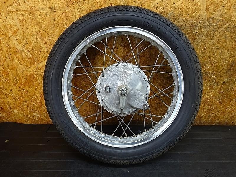 【190108.Y】SR500(2J2-200)● リアホイール(18×2.15) リアブレーキドラム アクスルシャフト コンチネンタル K112 【SR400 | 中古バイクパーツ通販・買取 ジャンクヤード鳥取 JunkYard