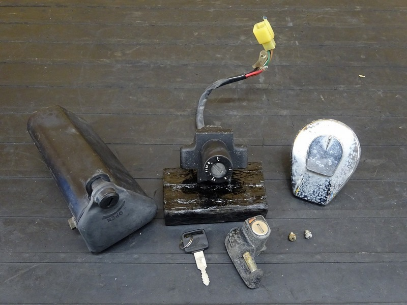 【200204】GB250クラブマン 1型(MC10-1015)■ キーセット メインキー タンクキャップ シートロック ヘルメットホルダー 小物入れ | 中古バイクパーツ通販・買取 ジャンクヤード鳥取 JunkYard