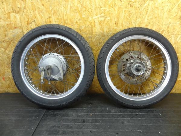 【160329】GB400TT(NC20)◆ホイール 前後セット フロント/リア | 中古バイクパーツ通販・買取 ジャンクヤード鳥取 JunkYard