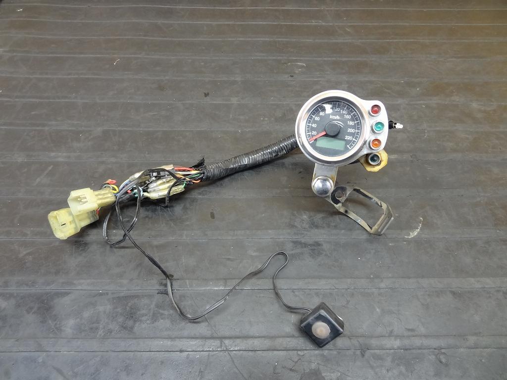 【180422.Y】ドラッグスター400(VH01J)☆社外ミニミニメーター スピードメーター電気式 インジケーター 220㎞表示 | 中古バイクパーツ通販・買取 ジャンクヤード鳥取 JunkYard