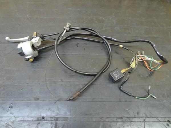 【150228】モトコンポ(AB12)◎ハンドルスイッチ 左 ワイヤー6V   中古バイクパーツ通販・買取 ジャンクヤード鳥取 JunkYard