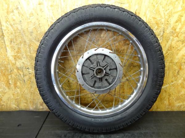 【150801】GT550◇リアホイール 18インチ ダンパー付 【GT380? | 中古バイクパーツ通販・買取 ジャンクヤード鳥取 JunkYard
