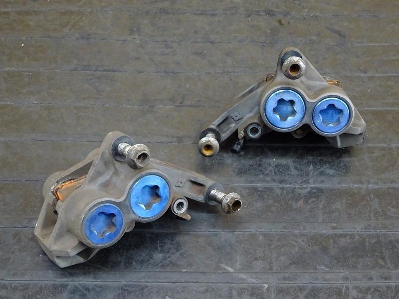 【200526】XJR400(RH02J-003)◇ フロントブレーキキャリパー左右セット モスキャリパー モノブロックキャリパー MOS   中古バイクパーツ通販・買取 ジャンクヤード鳥取 JunkYard