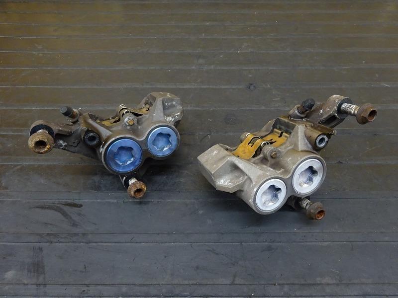 【201124】XJR400R(RH02J-001)■ フロントブレーキキャリパー左右セット モスキャリパー MOSキャリパー モノブロック 100㎜ 【4HM | 中古バイクパーツ通販・買取 ジャンクヤード鳥取 JunkYard