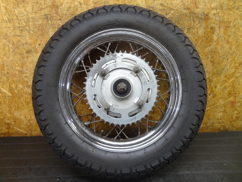 【180307.Y】ビラーゴ250(3DM-066)★リアホイール タイヤ ドラムパネル アクスルシャフト 15×2.75 | 中古バイクパーツ通販・買取 ジャンクヤード鳥取 JunkYard