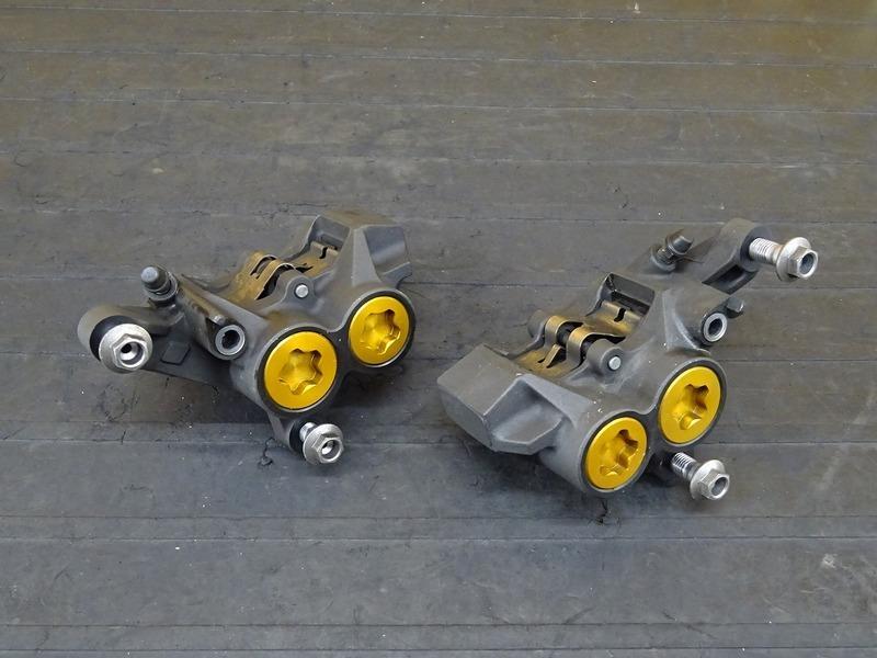 【200803】XJR1300C '15■ フロントブレーキキャリパー左右セット モスキャリパー MOS モノブロックキャリパー 100㎜ | 中古バイクパーツ通販・買取 ジャンクヤード鳥取 JunkYard