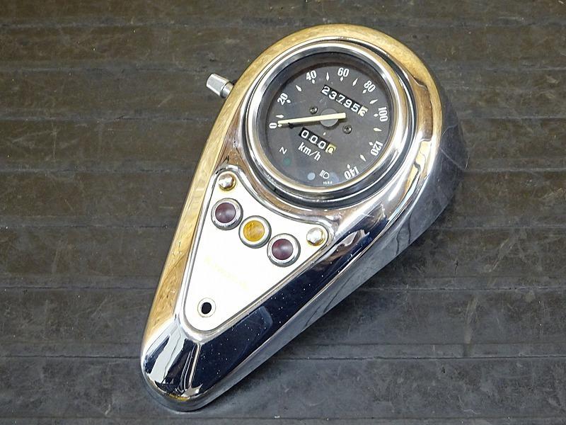 【200508】バルカン400クラシック(VN400A-021)◇ スピードメーター インジケーターランプ メーターカバー 23795㎞ | 中古バイクパーツ通販・買取 ジャンクヤード鳥取 JunkYard