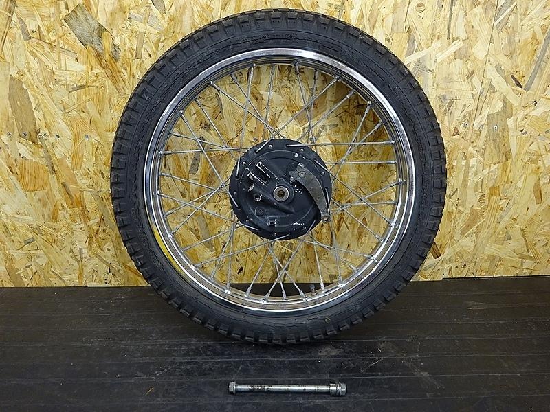 【190313.H】XL230(MC36-1001)● フロントホイール(19×1.85) ブレーキドラム アクスルシャフト | 中古バイクパーツ通販・買取 ジャンクヤード鳥取 JunkYard