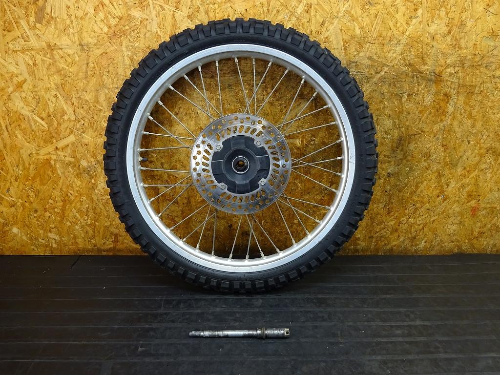 【180527.H】XR230(MD36-1301)●フロントホイール(21×1.60) アクスルシャフト ジャンク | 中古バイクパーツ通販・買取 ジャンクヤード鳥取 JunkYard