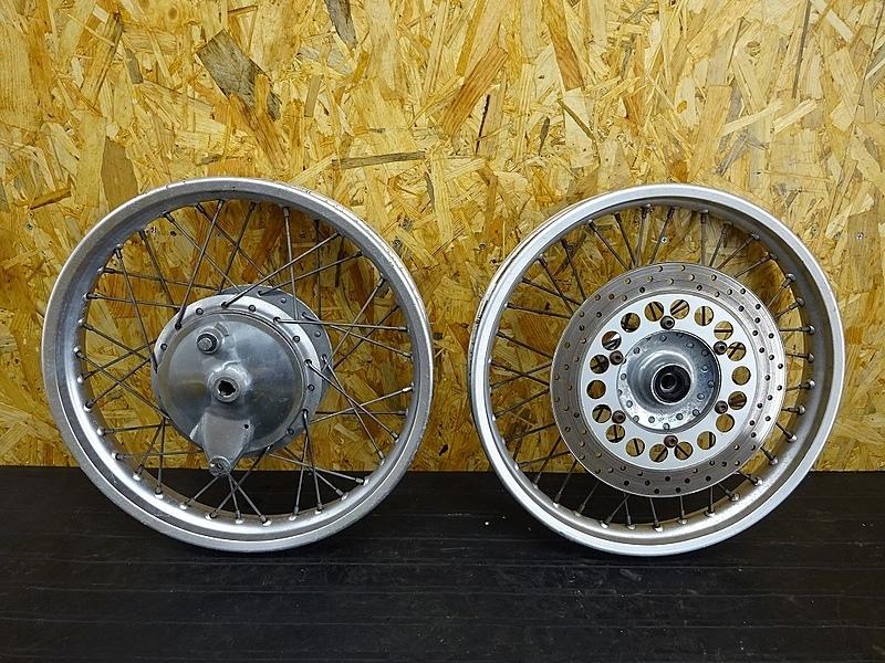 【190719.Y】SR400(RH01J-013)● ホイール前後セット(18×1.85)(18×2.15) ブレーキドラム | 中古バイクパーツ通販・買取 ジャンクヤード鳥取 JunkYard