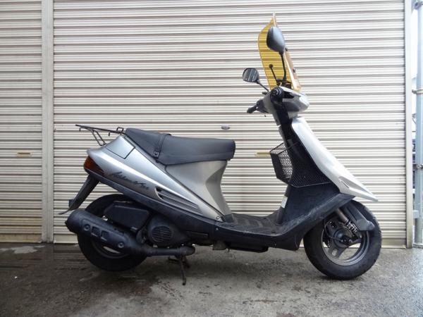 アドレスV100(CE11A)☆エンジン始動 書類付 スクリーン付 14,254㎞   中古バイクパーツ通販・買取 ジャンクヤード鳥取 JunkYard