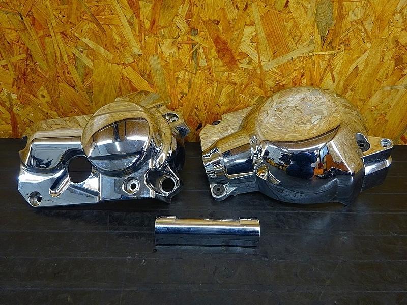 【191204】ドラッグスター400クラシック(VH01J-008)■ メッキエンジンカバー 左右セット | 中古バイクパーツ通販・買取 ジャンクヤード鳥取 JunkYard