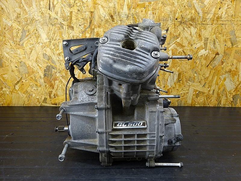 【200214】GL500カスタム(GL500-1005)■ 中古エンジン ジャンク!! 部品取りに!! 【検:GL400 ウイング CX500 | 中古バイクパーツ通販・買取 ジャンクヤード鳥取 JunkYard