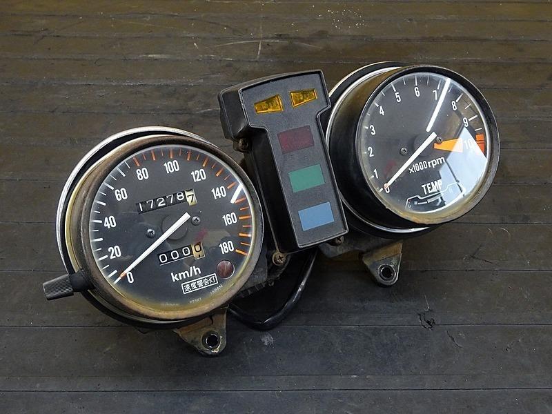【200214】GL500カスタム(GL500-1005)■ スピードメーター インジケーターランプ タコメーター ジャンク!? 【検:GL400 ウイング CX500 | 中古バイクパーツ通販・買取 ジャンクヤード鳥取 JunkYard