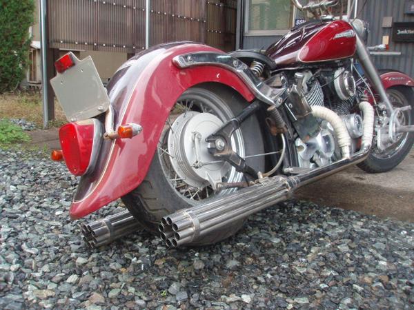 ドラッグスター400(4TR☆社外バルカンマフラー左右2本出し   中古バイクパーツ通販・買取 ジャンクヤード鳥取 JunkYard