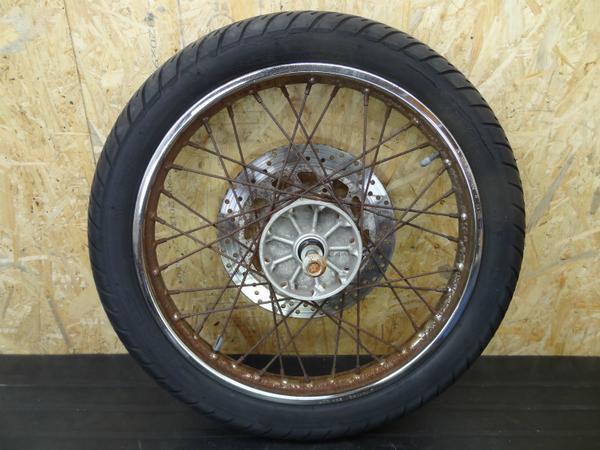 【140412】ビラーゴ250(3DM)◎フロントホイール 18×1.60【後期 | 中古バイクパーツ通販・買取 ジャンクヤード鳥取 JunkYard