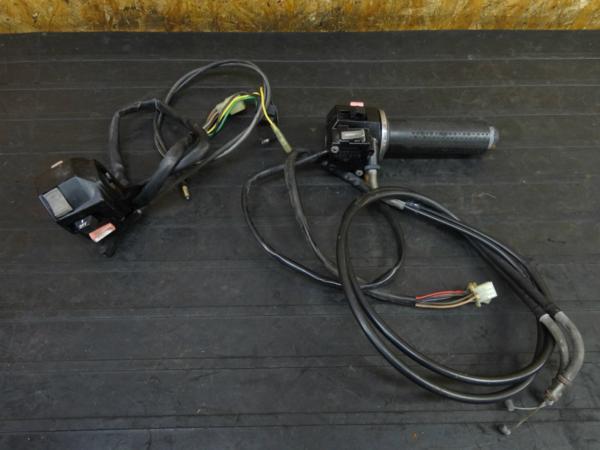 【170222】ビラーゴ250(3DM-048)◇ハンドルスイッチ 左右 チョークワイヤー アクセル | 中古バイクパーツ通販・買取 ジャンクヤード鳥取 JunkYard